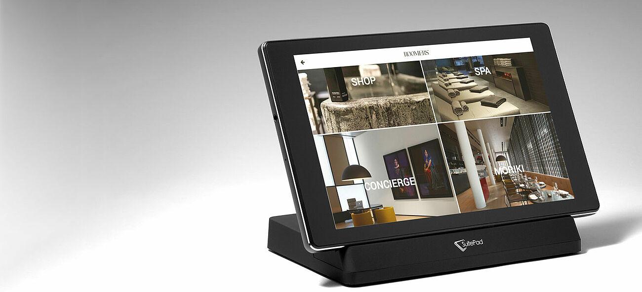 SuitePad für Hotels, virtuelle Gästemappe für Hotelgäste