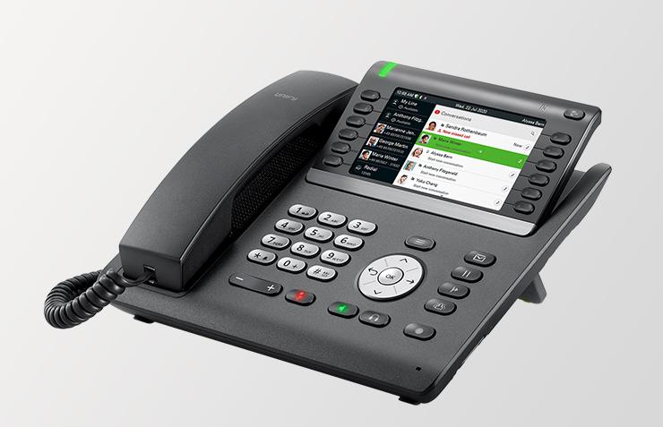 atos unify openscape cp700 cp700X, Tischtelefon mit integriertem WLan, Homeoffice Telefon