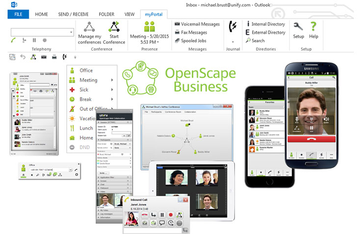 Unify OpenScape Business myPortal,  Outlook
